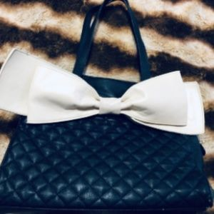 Used Betsey Johnson Bow Bag Tote